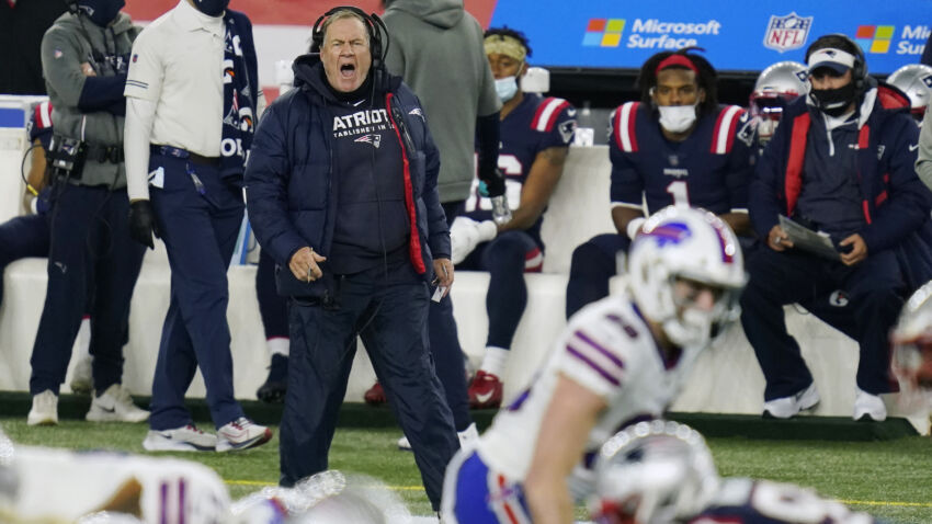 Bill Bellick threw a sideline phone in frustration during the Billy Patriots