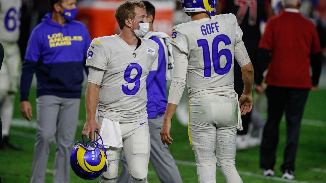 """The Los Angeles Rams makes a backup of """"Confident"""" QB John Wolford before the start of Week 17"""