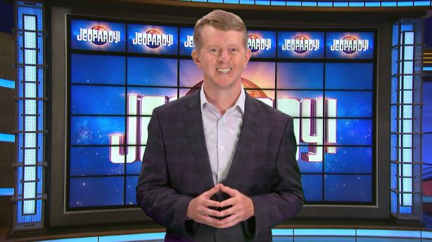 This image released by JEOPARDY! shows Ken Jennings, a 74-time champion the the set of the popular quiz show. Jennings will serve as a consulting producer on season 37, which premieres on Sept. 14. (JEOPARDY! via AP) [Sep-03-2020]