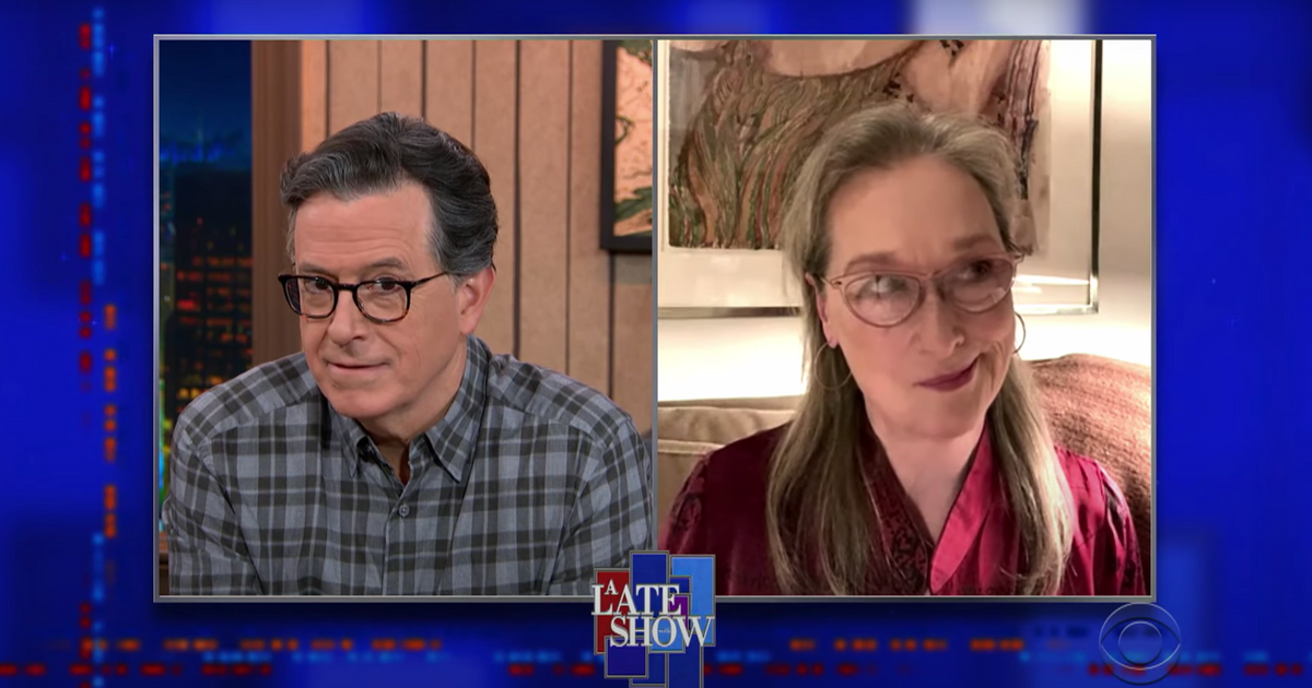 Watch Meryl Streep in Stephen Colbert's action films